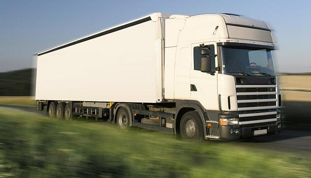 camion truck in landscape field